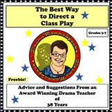 DIRECTING TIPS FOR PRODUCING A CLASS PLAY