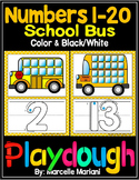 PLAY DOUGH BUS MATS- BUS THEME PLAY DOUGH MATS-back to school  (1-20)