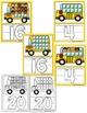 PLAY DOUGH BUS MATS- BUS THEME PLAY DOUGH MATS-back to school  (1-20)