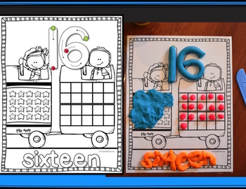 NUMBERS 0-20 PLAY DOUGH MATS {Correct Number Formation, Number Sense}