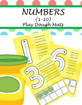 PLAY DOUGH MATS - NUMBERS(1-10)