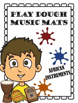 PLAY DOUGH MUSIC MATS - AFRICAN INSTRUMENTS