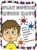 PLAY DOUGH MUSIC MATS BUNDLE - NOTES, RESTS, TIME SIGNATUR