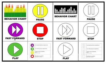 BEHAVIOR CHART (PLAY - PAUSE - STOP)