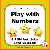 Multi-step MATH Problems ... FUN Worksheets ... Gr 3-4-5 Number Games
