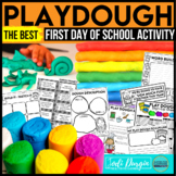 PLAY DOUGH first day of school activities Back to School