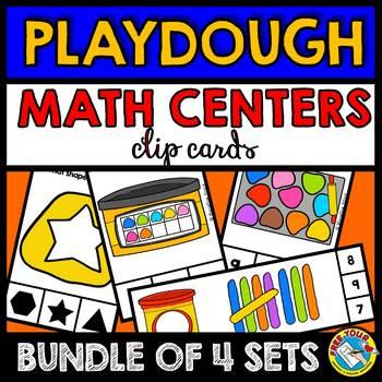 PLAYDOUGH MATH CENTERS BUNDLE (PRE K + KINDERGARTEN PLAYDOUGH THEME)
