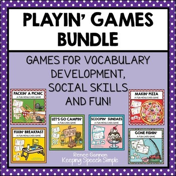 Playin' Games Bundle for Vocabulary Development and Game Play