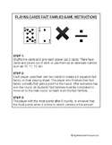 PLAYING CARDS FACTS FAMILIES GAME