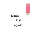 *Editable* PLC/Team Meeting Agenda