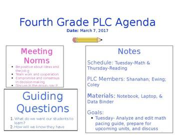 PLC Agenda