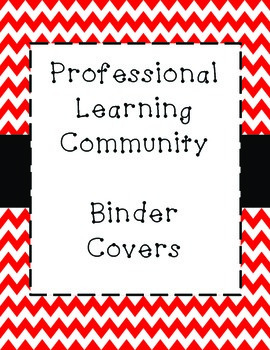 PLC Binder Covers - Red Chevron