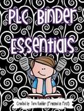 PLC Binder Essentials - Meeting Binder