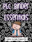 PLC Binder Essentials - Meeting Binder