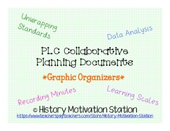 PLC Collaborative Planning Graphic Organizer Binder Bundle