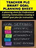 Teacher PLC SMART Goal Planning Sheet