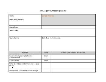 Teaching Agenda Template from ecdn.teacherspayteachers.com