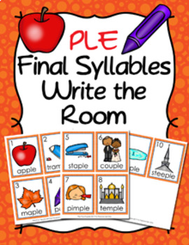 PLE Final Stable Syllable Words Write the Room