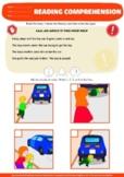 BUNDLE: READING COMPREHENSION, sequence 4 pictures, Dangerous, autism, 156 PAGES