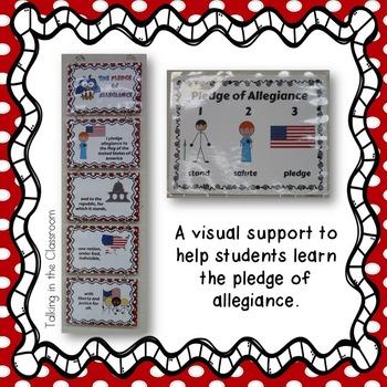 PLEDGE OF ALLEGIANCE VISUAL SUPPORT