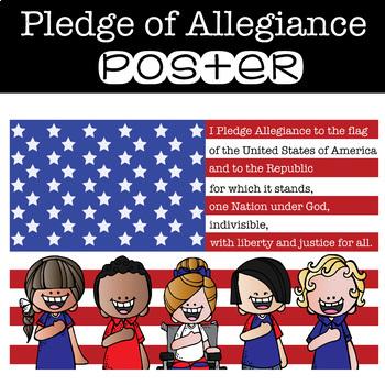 PLEGE of ALLEGIANCE - poster {melonheadz} - size 24 x 36 poster