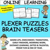 PLEXER PUZZLE BRAIN TEASERS - ENRICHMENT DIGITAL OR PRINTA