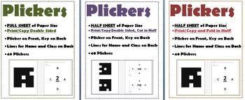 PLICKERS PACK FullSize Dble Sde, HalfSize Dble Sde, HalfSize Sngle Sde PrintFold