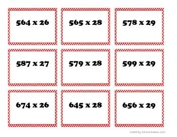 PLOP! 3 by 2 digit multiplication game