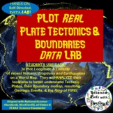 PLOT Real PLATE Tectonics!-Volcanoes & Earthquakes DataLAB