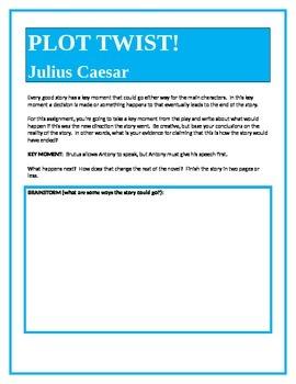 PLOT TWIST!  Julius Caesar