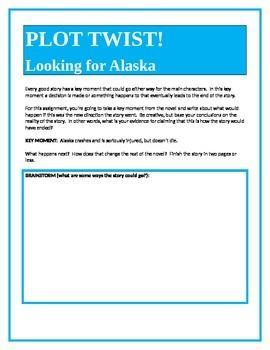 PLOT TWIST!  Looking for Alaska