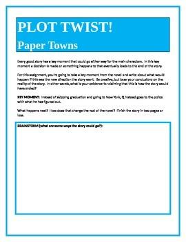 PLOT TWIST!  Paper Towns