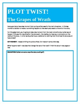 PLOT TWIST! The Grapes of Wrath