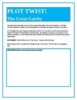 PLOT TWIST!  The Great Gatsby