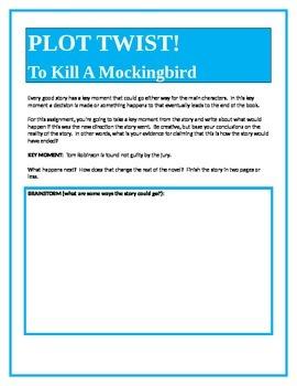 PLOT TWIST!  To Kill A Mockingbird