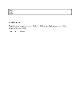 Speech Therapy-PLS-5 Language Sample Checklist Report Template