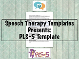 PLS-5 Template | Speech Therapy Assessment