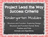 PLTW Kindergarten Success Criteria for all Four Units