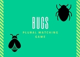 PLURAL BUG MATCHING GAME SLP SPEECH THERAPY