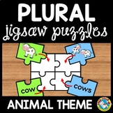 ANIMAL PLURAL NOUNS ACTIVITY PUZZLE CENTER (ADDING S TO WORDS)
