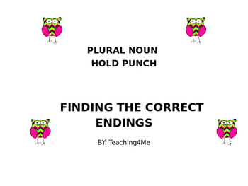 PLURAL NOUN HOLE PUNCH