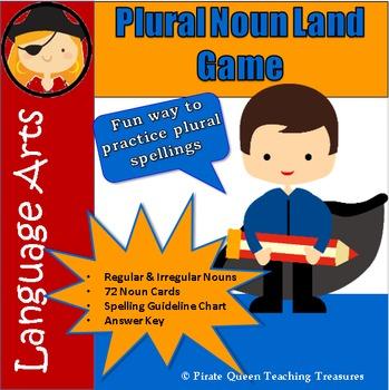 PLURAL NOUN LAND GAME/Regular & Irregular Plural Nouns/ CC