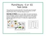 PLURAL NOUNS: Choosing -s or -es Task Cards - Mini Clip Cards
