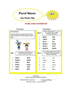 PLURAL NOUNS ... Cut and Paste Worksheets ... Gr. 2-3