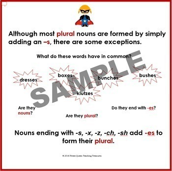 PLURAL NOUNS PowerPoint CCSS Aligned 3rd Grade Up