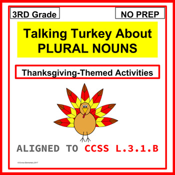 PLURAL NOUNS- Thanksgiving Theme