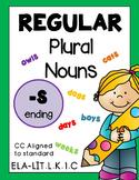 Plural Nouns Regular -S Ending Worksheets Distance Learning