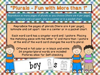 PLURALS - Fun With More Than 1