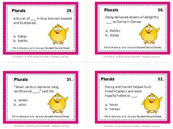 PLURALS - Task Cards