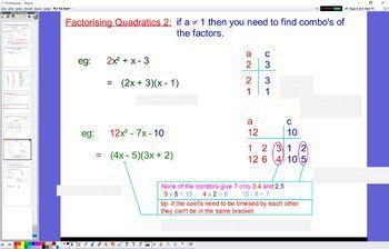 PLY 02 Factorising Quads